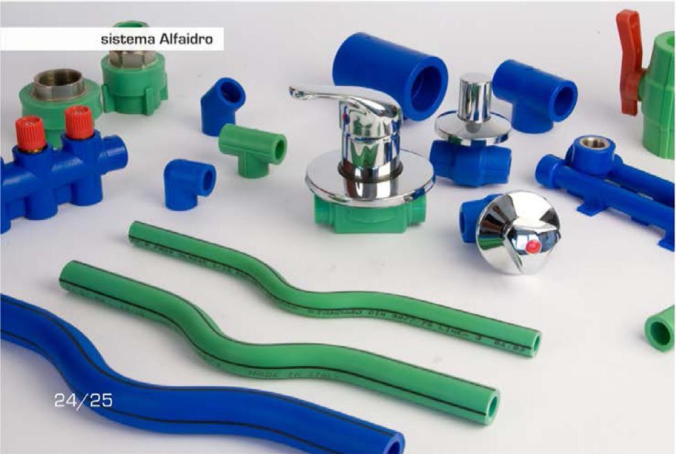 Plastica alfa vedogreen for Linee d acqua in plastica vs rame
